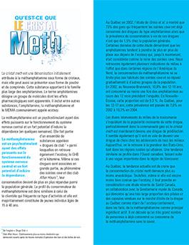 Le cristal meth – ce qu'il faut savoir