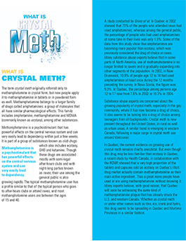 Crystal meth – what you need to know