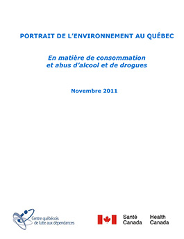 Portrait de l'environnement au Québec en matière de consommation et abus d'alcool et de drogues